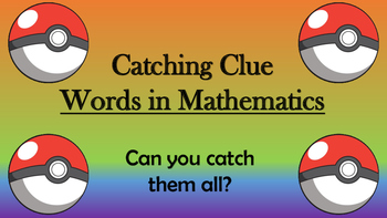 Catching Clue Words in Mathematics