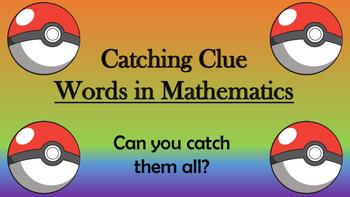 Catching Clue Words in Mathematics