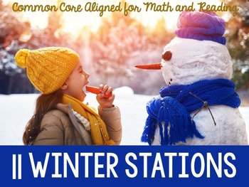 Winter Stations and Activities: 11 Math Stations and Readi