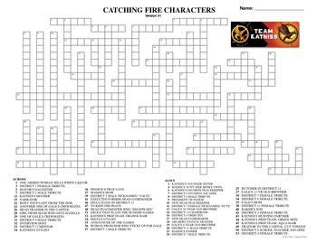 Catching Fire Activities Crossword, Logic, Word Find, Mazes, Puzzles