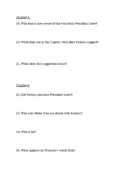Catching Fire Book Questions and Answers