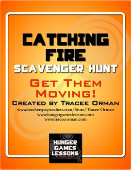 Catching Fire Novel Scavenger Hunt Review Activity