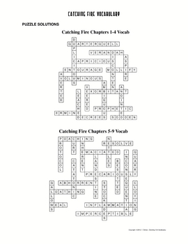 """Catching Fire"" Vocabulary Words, Definitions, Crossword Puzzles"