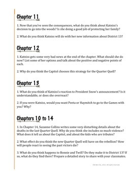 Catching Fire (by Suzanne Collins): Discussion Questions Sample Freebie