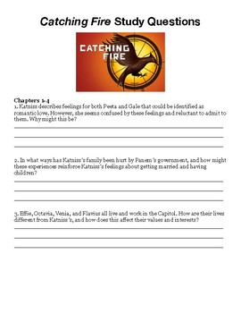 Catching Fire by Suzanne Collins Reading Questions