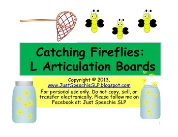 Catching Fireflies L Articulation Boards