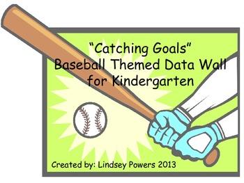 Catching Goals - Baseball Themed Data Wall for Kindergarten