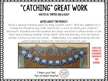 Catching Great Work { Nautical Red & Navy }