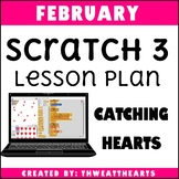February Scratch Programming Lesson Plan - Catching Hearts