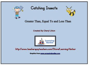Catching Insects Greater Than Less Than and Equal To