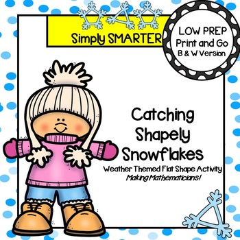 NO PREP Weather Themed Flat Shape Coloring Activities
