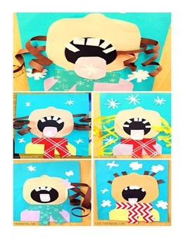 Catching Snowflakes Winter Poem and Craft Packet