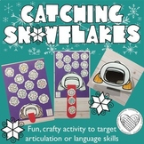 Catching Snowflakes for articulation & language therapy