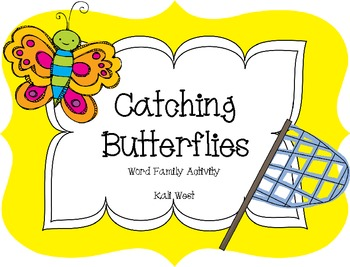 Catching Word Family Butterflies-FREEBIE