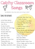 Catchy Classroom Songs