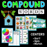 Compound Words Centers | Games | Match