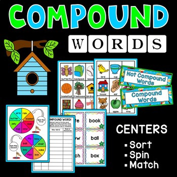Compound Words Flashcard Games, Puzzles and Centers