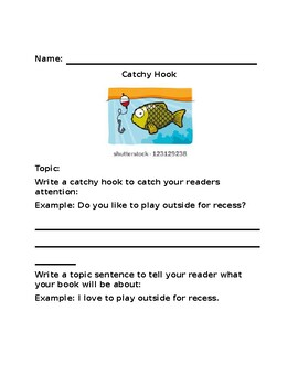 Catchy Hook & Topic Sentence Worksheet