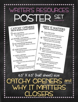 Poster set: Catchy Openers and Why It Matters Closers