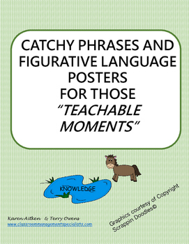"""Catchy Phrases and FIgurative Language Posters for those """""""