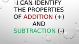 Catchy Properties of Addition and Subtraction Song (PowerPoint)