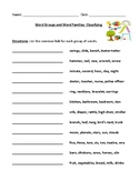 Categories and Connections Worksheet and Answer Key