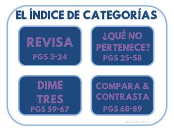 Categorías - Categories No Print - Teletherapy and Spanish