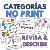 Categorías Categories in Spanish - No Print - Review and D