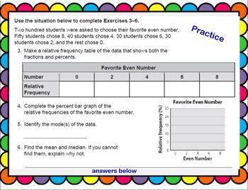 Categorical Data Math Smartboard Lesson Displaying Analyzing Organizing Data