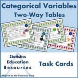 Task Cards: Categorical Variables and Two-Way Tables (Common Core Aligned)