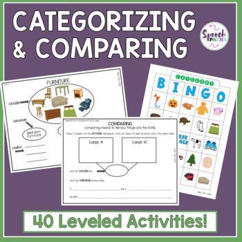 Categorization & Comparing: Leveled Activities