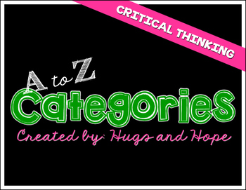 Categories A to Z - Critical Thinking