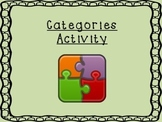 Categories Activity