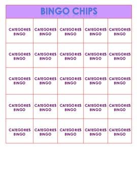 Categories Bingo