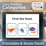 Categories Boom Cards Speech Therapy for Vocabulary Distan