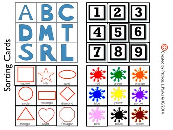 Categories-Colors, Letters, Numbers, Shapes