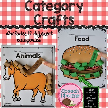 Categories Crafts {Expressive Receptive Language Visual Object Identification}