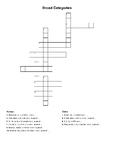 Categories Crossword - FREEBIE