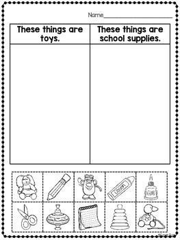 Categories Activities