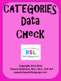 Categories Data Check Elementary