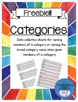 Categories - Data collection Freebie