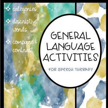 Categories, Descriptive Language, Compare/Contrast