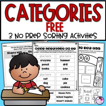 Categories Sorting FREEBIE