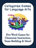 5 Categories Games or Icebreakers for Language Arts