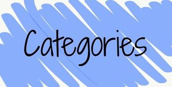 Categories Game-Language Arts