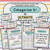 Categorizing Game & Task Cards