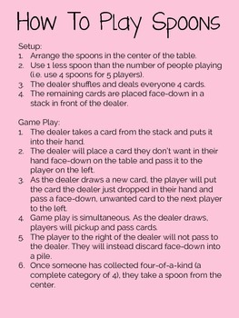 Categories, Groups, Semantic Classes - Spoons: The Card Game