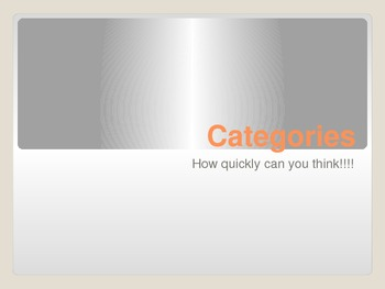 Categories: How Quickly Can You Think???