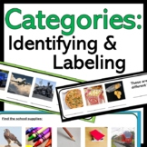 Categories: Identifying, Labeling, and Sorting (Speech The