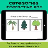 Categories Interactive PDF - No Print - Speech Language Therapy